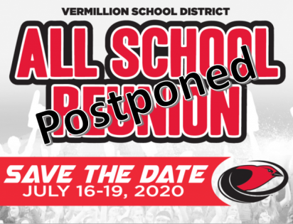 All School Reunion Save The Date July 16-19, 2020 Postponed