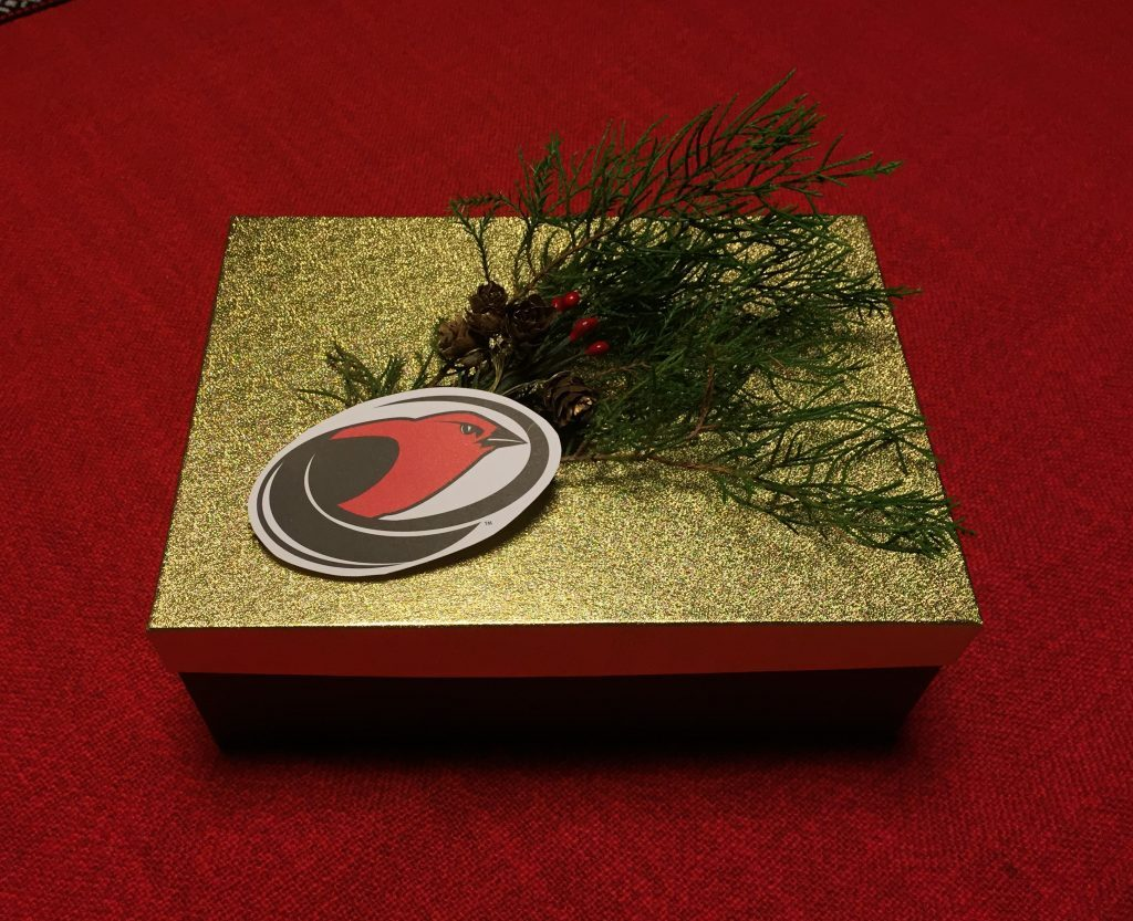 Gift box with Tanager Logo on top